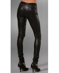 Les Chiffoniers | Black Stitch Leather Jean Leggings | Lyst