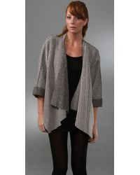 Loeffler Randall | Gray Draped Front Coat | Lyst