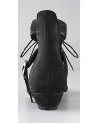 Loeffler Randall - Black Lace-up Sandal Boots - Lyst