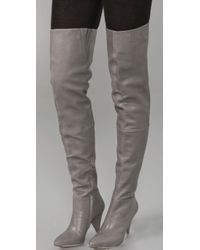 Loeffler Randall - Gray Marilyn Over The Knee Boots - Lyst