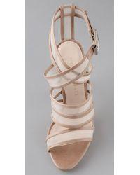 Loeffler Randall - Natural Crisscross Mesh Sandals - Lyst