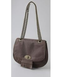 Madewell - Gray Vintage Leather Bag - Lyst