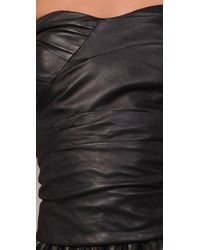 Marc By Marc Jacobs - Black Glove Leather Bustier Top - Lyst
