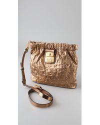 Marc By Marc Jacobs Metallic Dreamy Logo - Sia Embossed Crossbody Bag