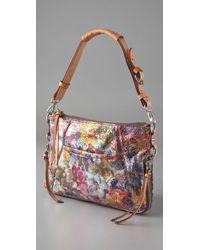 Nanette Lepore Multicolor Metallic Floral Chain Clutch