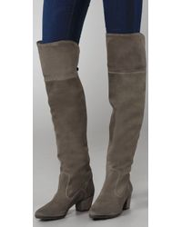 NDC Green Nixie Suede Over The Knee Boots