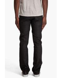 Nudie Jeans | Slim Jim Dry Black Coated Jeans for Men | Lyst