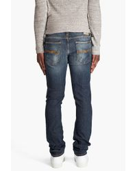 Nudie Jeans | Grim Tim Frosty Blue Jeans for Men | Lyst