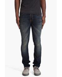 Nudie Jeans | Blue Thin Finn Crispy Crinkles Jeans for Men | Lyst