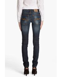 Nudie Jeans Blue Tight Long John Midnight Jeans