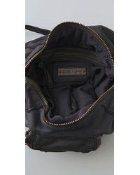Olivia Harris | Black Garment Washed Messenger Bag | Lyst