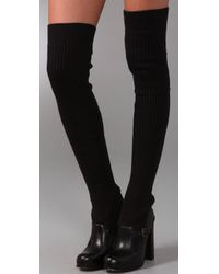 Opening Ceremony Black Thigh-high Sock Boots