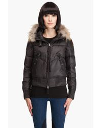 Peuterey | Black Quilted Down Jacket - Blue | Lyst
