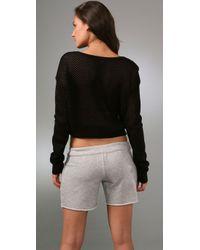Plastic Island - Black Net Worth Sweater - Lyst