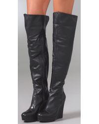 Pour La Victoire Cordelia Boot - Black Napa