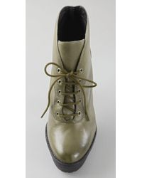 Pour La Victoire | Green Olive Leather Deon Lace Up Ankle Boot | Lyst