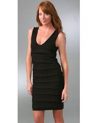 Rag & Bone Black Ariel Tiered Silk and Cashmere-blend Dress