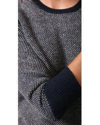 Rag & Bone - Blue Tweed Cashmere Sweater - Lyst