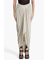 Rick Owens Lilies | White Long Draped Skirt | Lyst