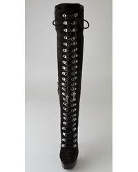 Rock & Republic Black Blaine Suede Over The Knee Boots