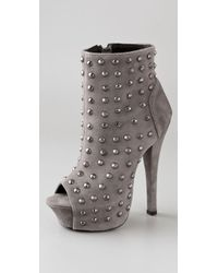 Rock & Republic | Gray Gabriel Studded Suede Booties | Lyst