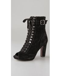 Sam Edelman - Black Belmont Lace Up Bootie - Lyst