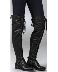 Sam Edelman - Black Dixie Over The Knee Boots - Lyst