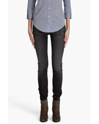 7 For All Mankind Roxanne Black Oil Stain Jeans