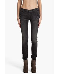 7 For All Mankind - Roxanne Black Oil Stain Jeans - Lyst