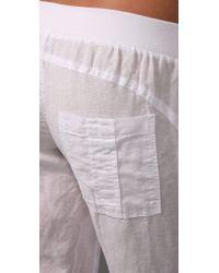 Splendid - White Linen Pants - Lyst