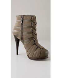 Steven by Steve Madden Green Caylyn Elastic Banded Booties