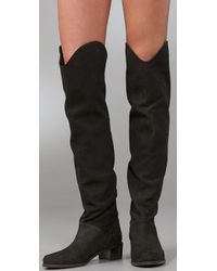 Stuart Weitzman - Black Dunkirk Over The Knee Boots - Lyst