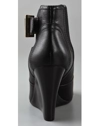 Tory Burch Black Adrienne Leather Ankle Boots