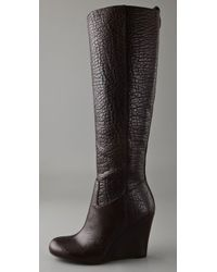 Tory Burch Brown Dabney Wedge Boots