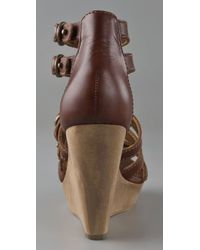 Twelfth Street Cynthia Vincent - Brown Jagger Zipper Front Buckle Wedge - Lyst