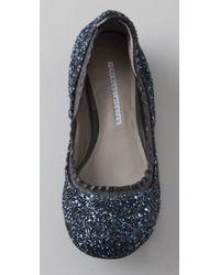 Vera Wang Lavender Blue Mariel Glitter Ballet Flats
