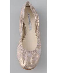 Vera Wang Lavender | Metallic Lillian Ballet Flats | Lyst