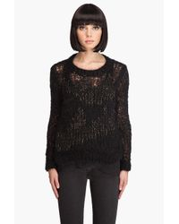 Wayne - Black Hand Knit Mohair Sweater - Lyst