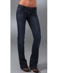 7 For All Mankind | Blue Rocker Boot Cut Jeans | Lyst