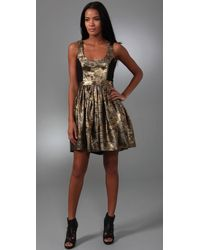 Adam Lippes - Metallic Party Dress - Lyst
