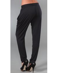 A.L.C. Black Tapered Jersey Pants
