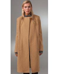 Alexander Wang | Natural Oversized Textured Wool-blend Coat | Lyst