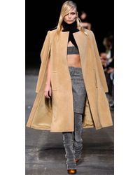 Alexander Wang Natural Oversized Textured Wool-blend Coat