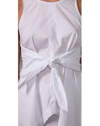 Alexander Wang White Cotton-poplin Handkerchief Dress
