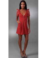 Alice By Temperley | Red Mini Ghana Dress | Lyst