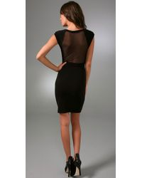 Alice + Olivia | Black Tabitha Dress with Mesh Back | Lyst