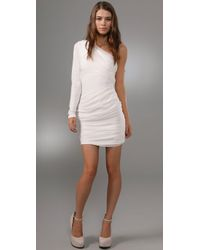 Alice + Olivia | White One Shoulder Goddess Dress | Lyst