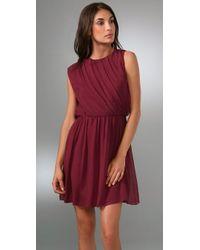 Alice + Olivia - Purple Polly Sleeveless Dress - Lyst