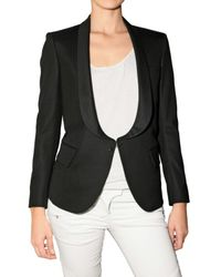 Balmain | Black Safety Pin Tuxedo Jacket | Lyst