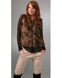 BB Dakota | Brown Ashland Faux Fur Vest | Lyst